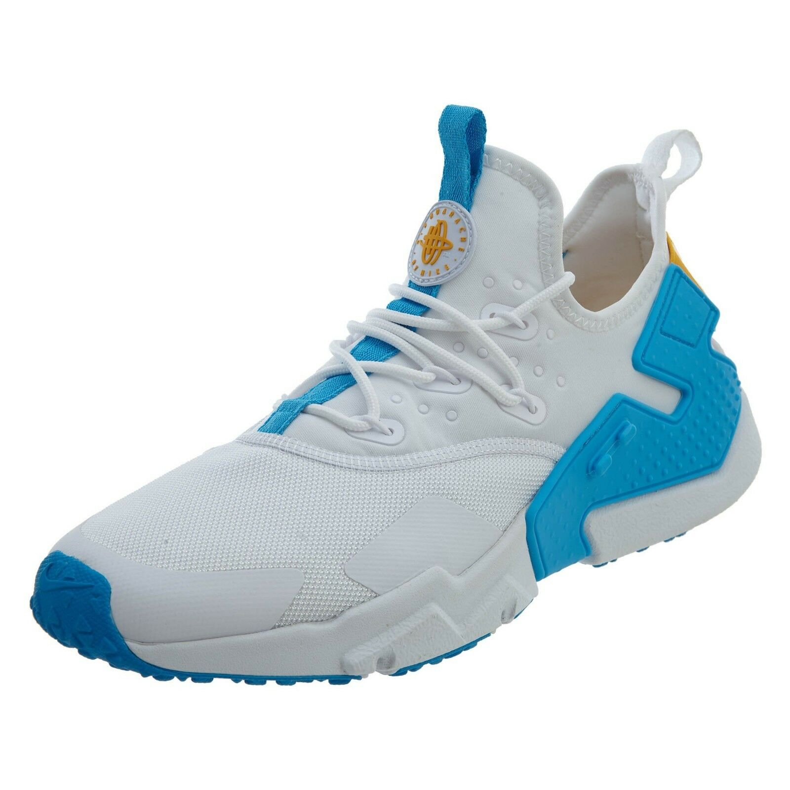 NIKE AIR HUARACHE RUN DRIFT AH7334 101 SZ 11 WHITE EQUATOR blueE UNIVERSITY gold