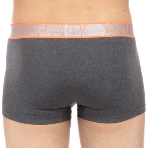 HOM Underwear Men/'s Sport Vibrancy Short Trunk Grey Microfiber Boxer Brief