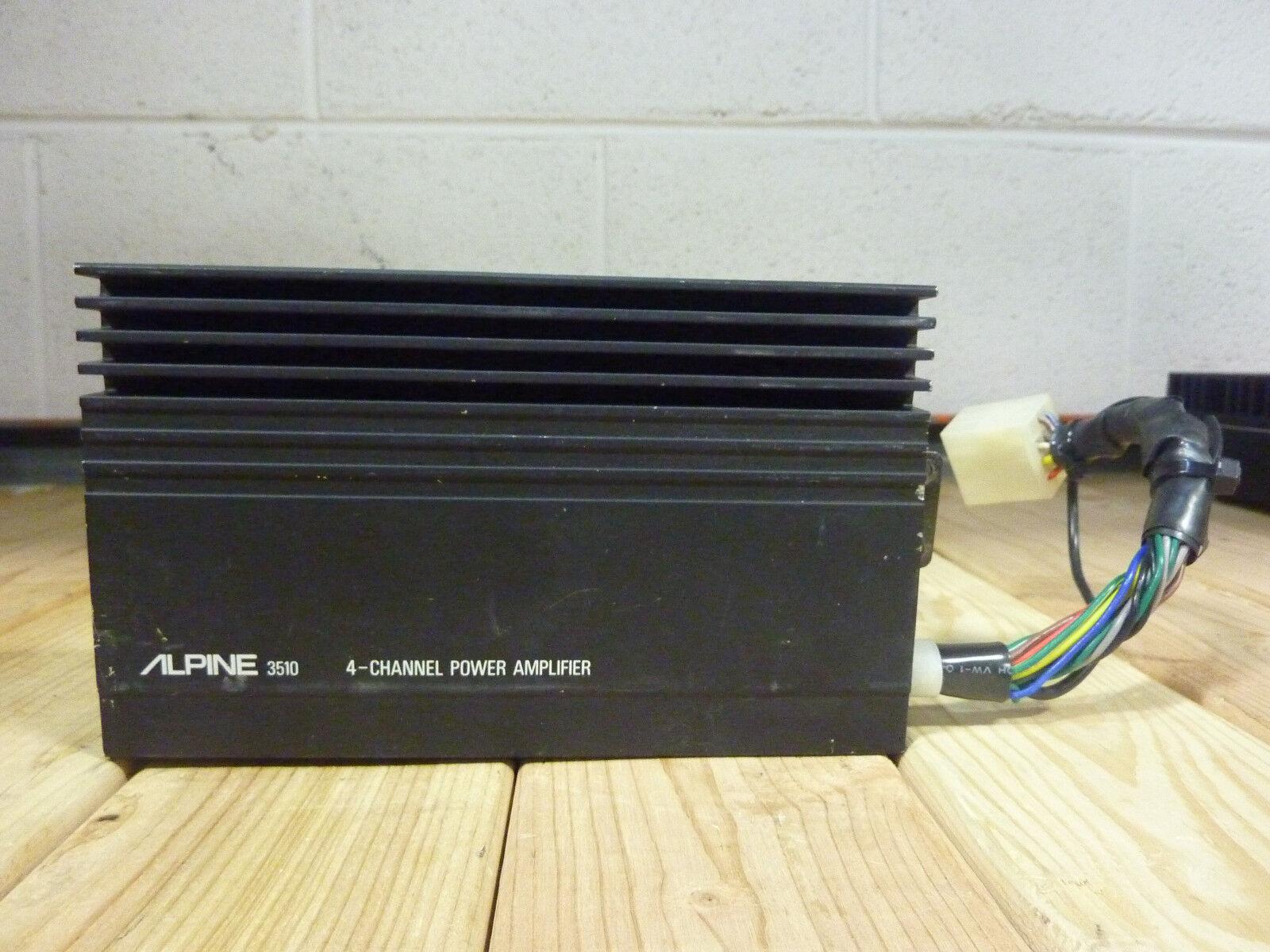 vintage old school alpine 3510 4 channel power amplifier for sale