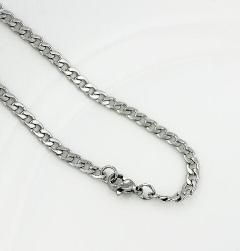 BULK 5 Stainless Steel Bracelet Terrific Quality Curb Link N424