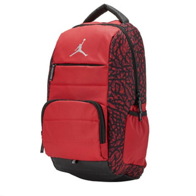 a1ec6b8448cc Nike Air Jordan All World School Backpack Laptop Red Elephant 9a1640 ...