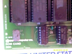 Vintage 1978 APPLE II Computer ROM CARD CHIPS 600-