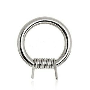 New-Surgical-Steel-Novelty-Barbed-Wire-Captive-Bead-Ring-Hoop-14g-12g