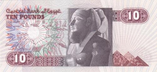 EGYPT 10 EGP 1982 P-51 SIG//SHALABI #16 UNC *//*