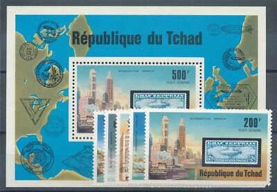 Initiative 237437 Verkehr & Transport Luftfahrt Tschad Nr.775-9+block 68** Zeppeline PüNktliches Timing