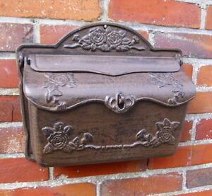 nostalgischer briefkasten postkasten gusseisen antik t rdeko landhausstil neu ebay. Black Bedroom Furniture Sets. Home Design Ideas
