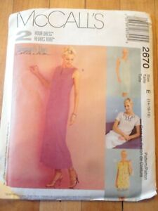 Vintage 2000 Sewing Pattern 2 Hour  Pull Over Dress Size 14-16-18 Uncut