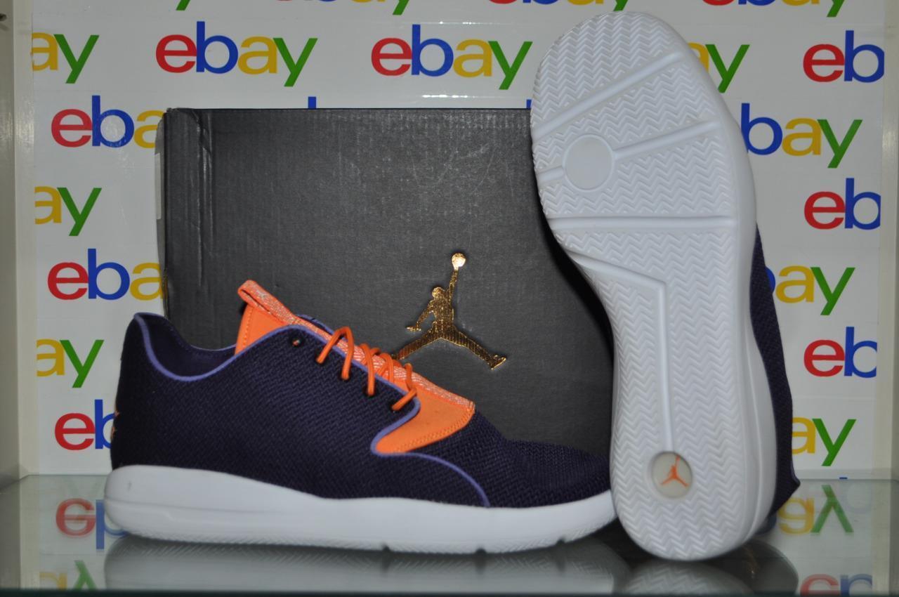 Jordan Eclipse Homme Running Chaussures Ink/Bright Mandarin-Noir-Blanc 724010-505 NIB