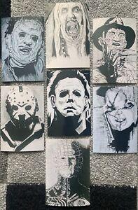 Set-Of-7-Horror-Ink-Sketch-Photos-MattmansArt