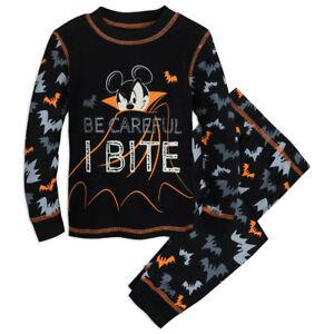 Disney-Authentic-Mickey-Mouse-Halloween-PJ-Pals-Pajamas-Boys-Size-2-3-4-5-New