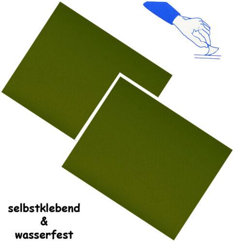 "Nylon Wasserabwei Self-Adhesive Repair Sticker /"" Olive Green//Hunter /"""