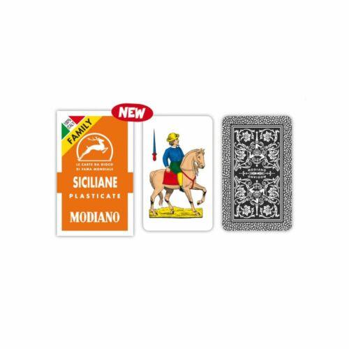 Carte da Gioco Modiano Siciliane  FAMILY 1 Mazzo 40 Carte duplex plasticate
