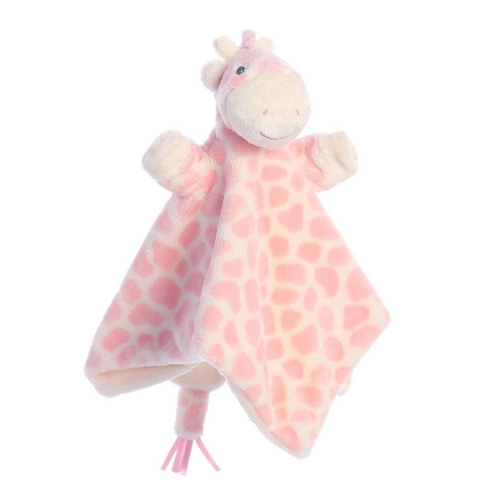 Gigi Gigi Gigi Giraffe Pink Finger Puppet Blankie 44ea84