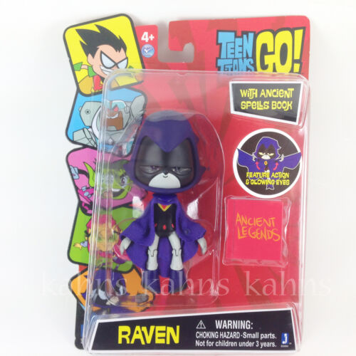 "Jazwares Action Figure 5/"" RAVEN w// Glowing Eyes ! DC Comics TEEN TITANS GO"
