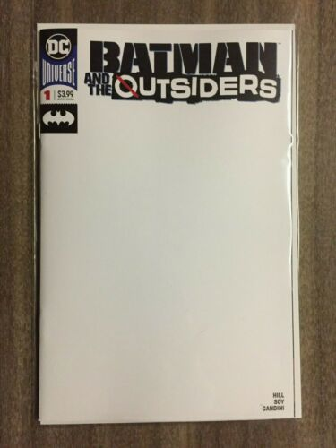 2019 Blank Variant NM Batman and the Outsiders #1