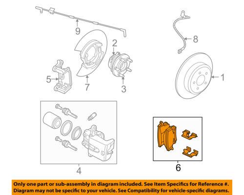 CHRYSLER OEM Brake-Rear-Disc Brake Pads 5174327AC