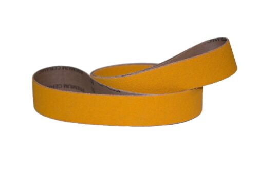 "5pcs 2/""x72/"" Sanding Belts 50 Grit NEW Premium Yellow Ceramic"