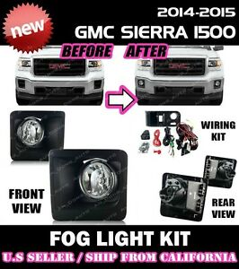 CLEAR For LEXUS IS F-Sport 14 15 16 Fog Light Driving Lamp Kit w//Switch Wiring