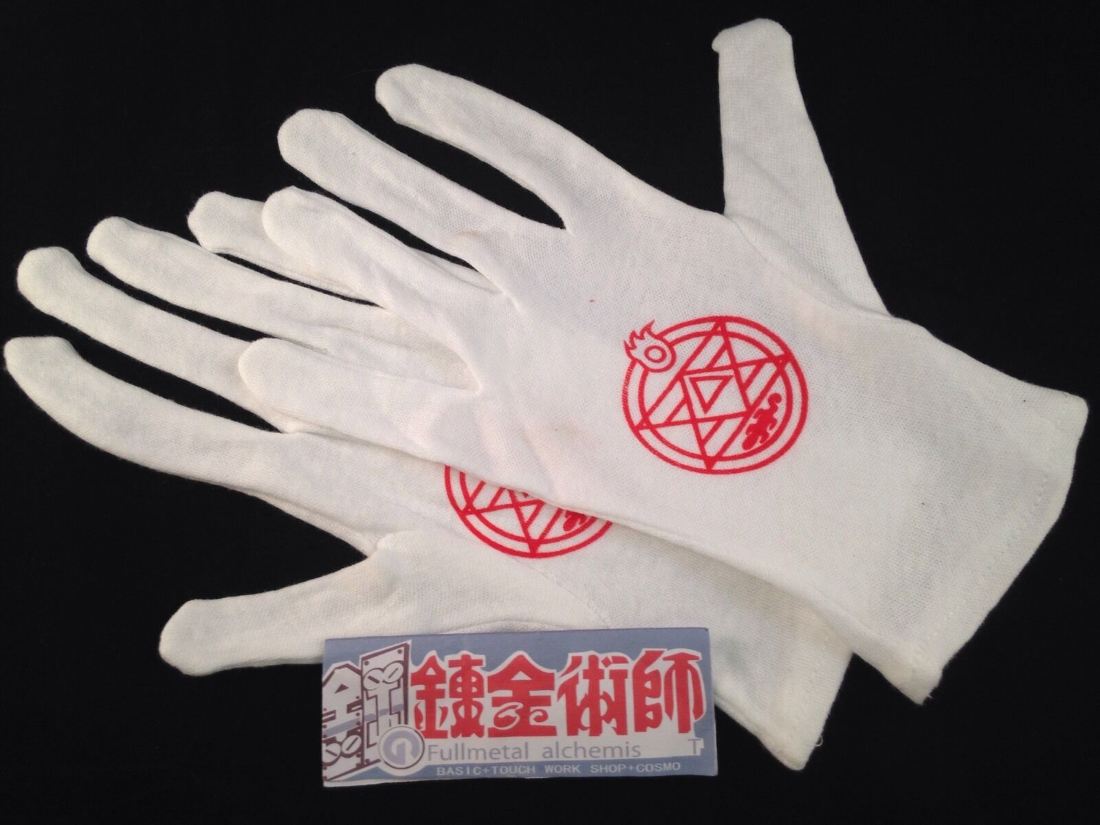 1 X Anime Cosplay Fullmetal Alchemist Gloves Colonel Roy Mustang