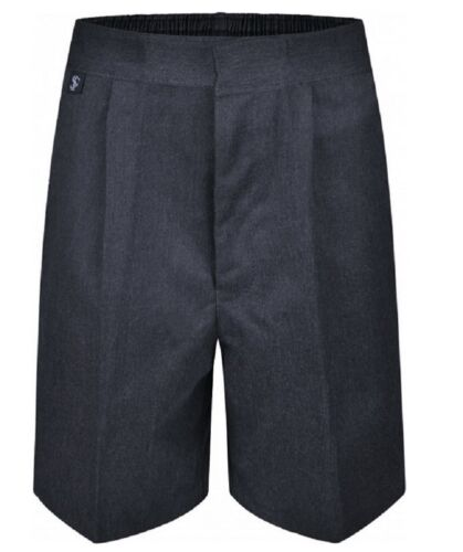 Ages 1-13 Boys Pull Up School Trousers Elasticated Teflon Zip Up Pull On
