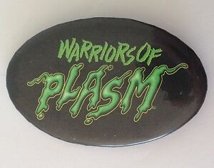 Warriors-Of-Plasm-Ghostly-Button-Badge-Pin-Vintage-Authentic-N13