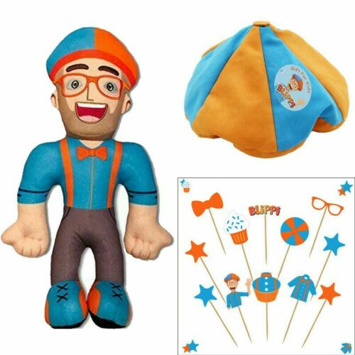 Blippi Figures Soft Stuffed Plush Doll Toys Party Festival Birthday Kids Gifts