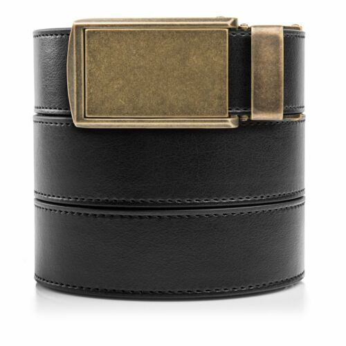 Custom Fit Distressed Checkered Leather SlideBelts Men/'s Classic Belt
