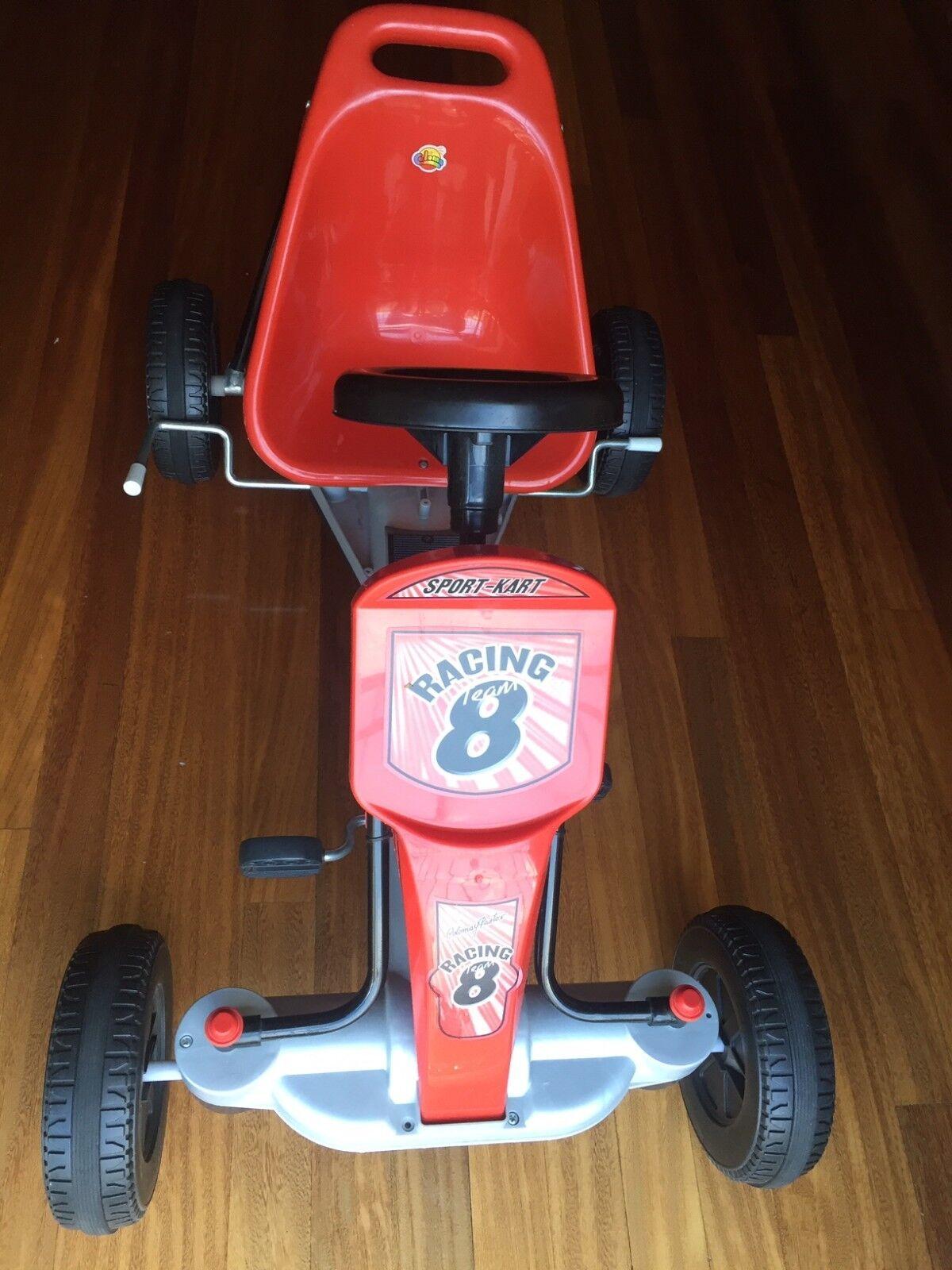 Go Kart Coche de Pedales para Niños 3 a 8 años Normativa EN 71 con Freno