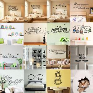 Citazione-Muro-Adesivi-Decalcomania-In-Vinile-Arte-Murale-Home-Cameretta-Camera-Da-Letto-Arredamento