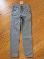 Lands End Girls 5 Pocket Gray Pants Size 12
