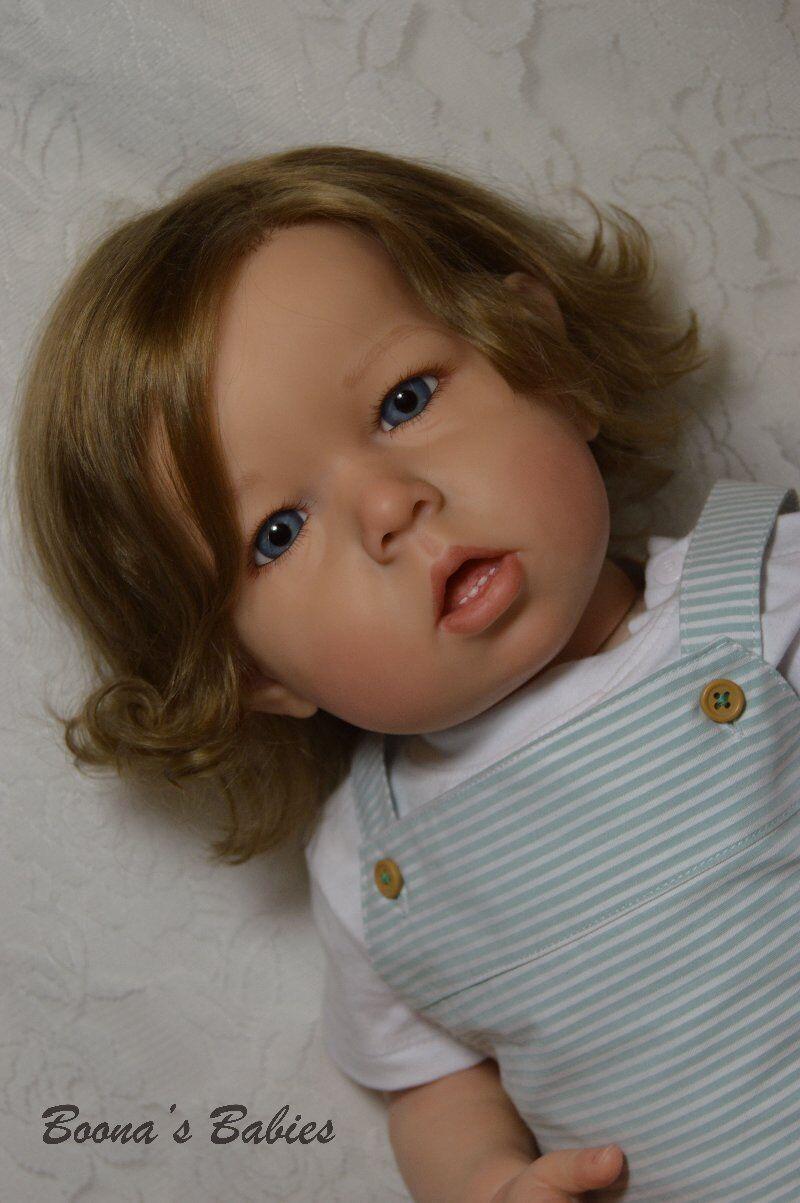 Orden de encargo Muñeca Reborn Infante Niño O Niña Liam por Bonnie marrón-Cabello Humano