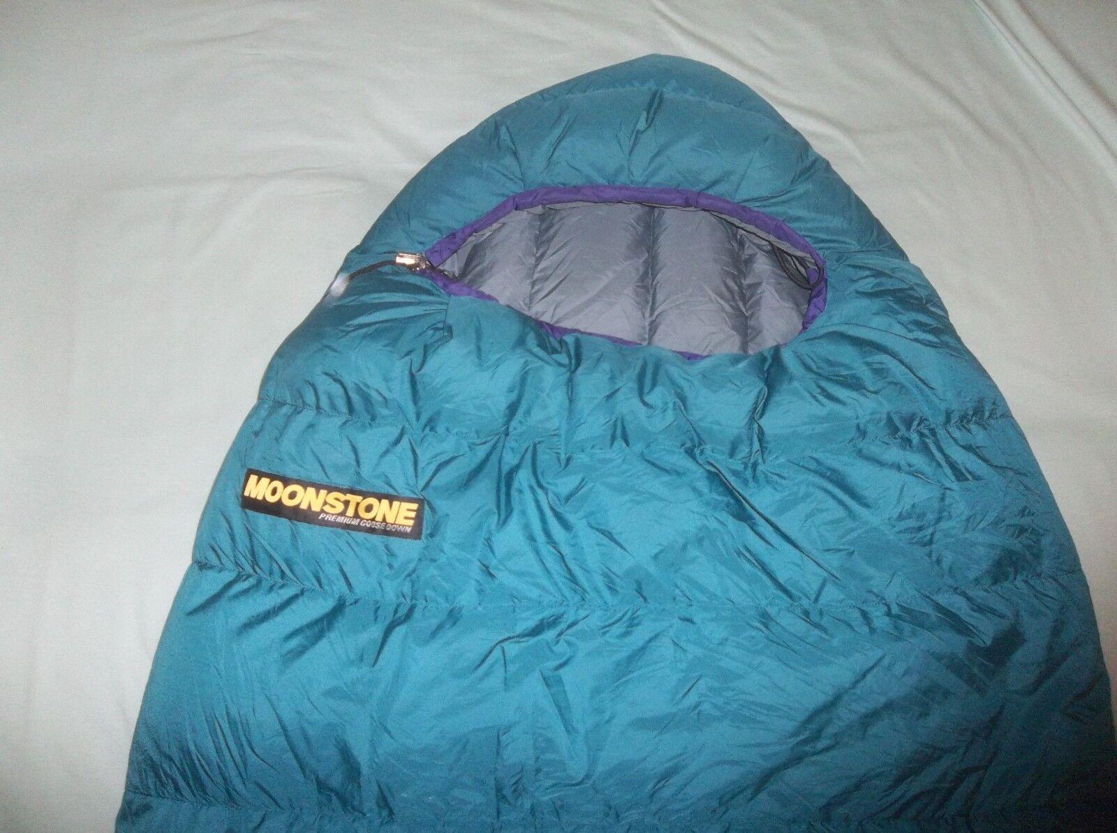 Piedra Lunar Muir Trail regular Ganso 30F 800fp Bolsa De Dormir Vintage Suave verde azulado