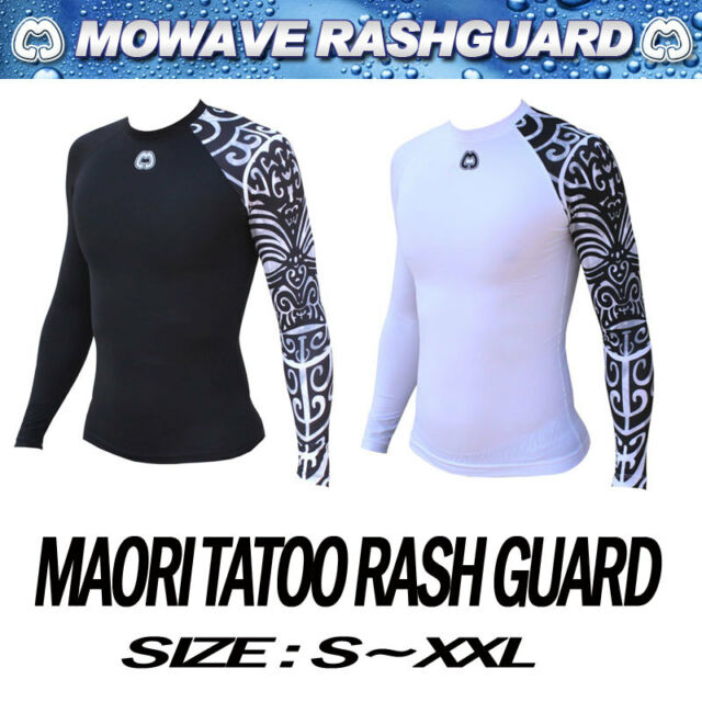 mowave men junior rashguard swimwear maori tatoo athletic surfing shirts S~XXL