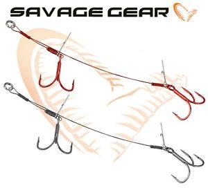 Savage-Gear-Double-Stingers-Predator-Leurre-Peche-Materiel-Cable-Triple-Crochets