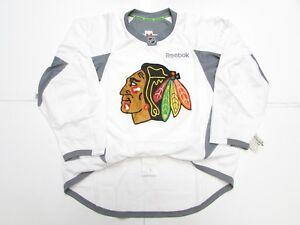 white blackhawks practice jersey