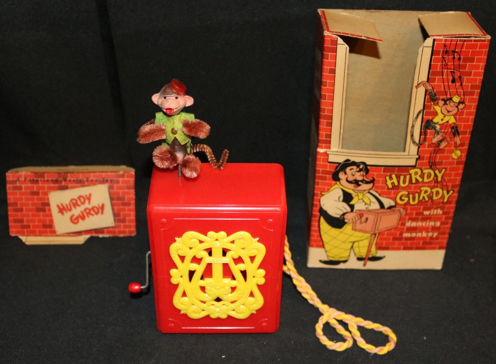 Mattel Hurdy Gurdy musik låda årgång leksak (MIB) Funkar inte