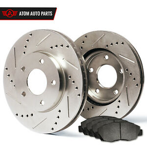 2008-2009-2010-Fit-Dodge-Grand-Caravan-Slotted-Drilled-Rotors-Metallic-Pads-F