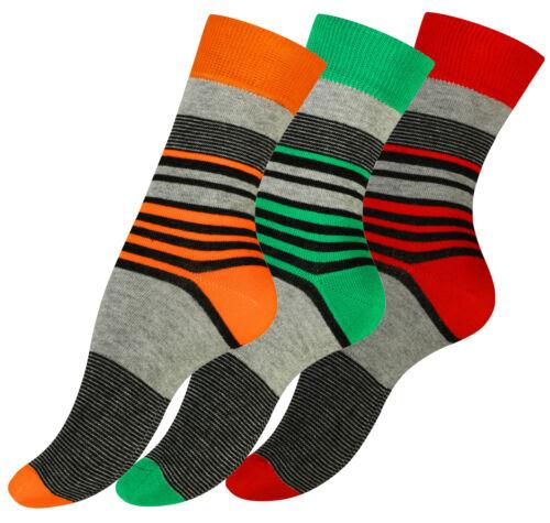 3 oder 6 Paar Damen Socken Modische Streifen-Strümpfe Baumwolle Vincent Creation