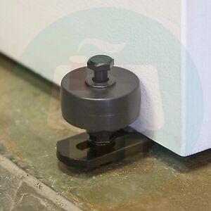 Image Is Loading Adjustable Black Bottom Roller Guide For Barn Doors