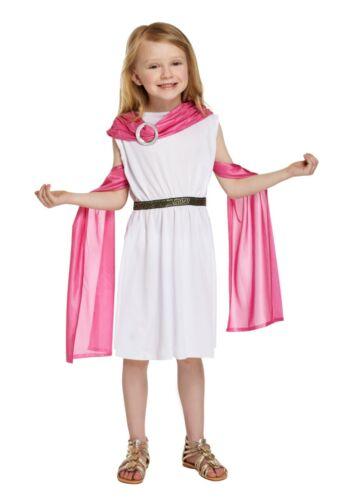 GIRLS GREEK GODDESS TOGA FANCY DRESS COSTUME WORLD BOOK DAY WEEK PINK SASH