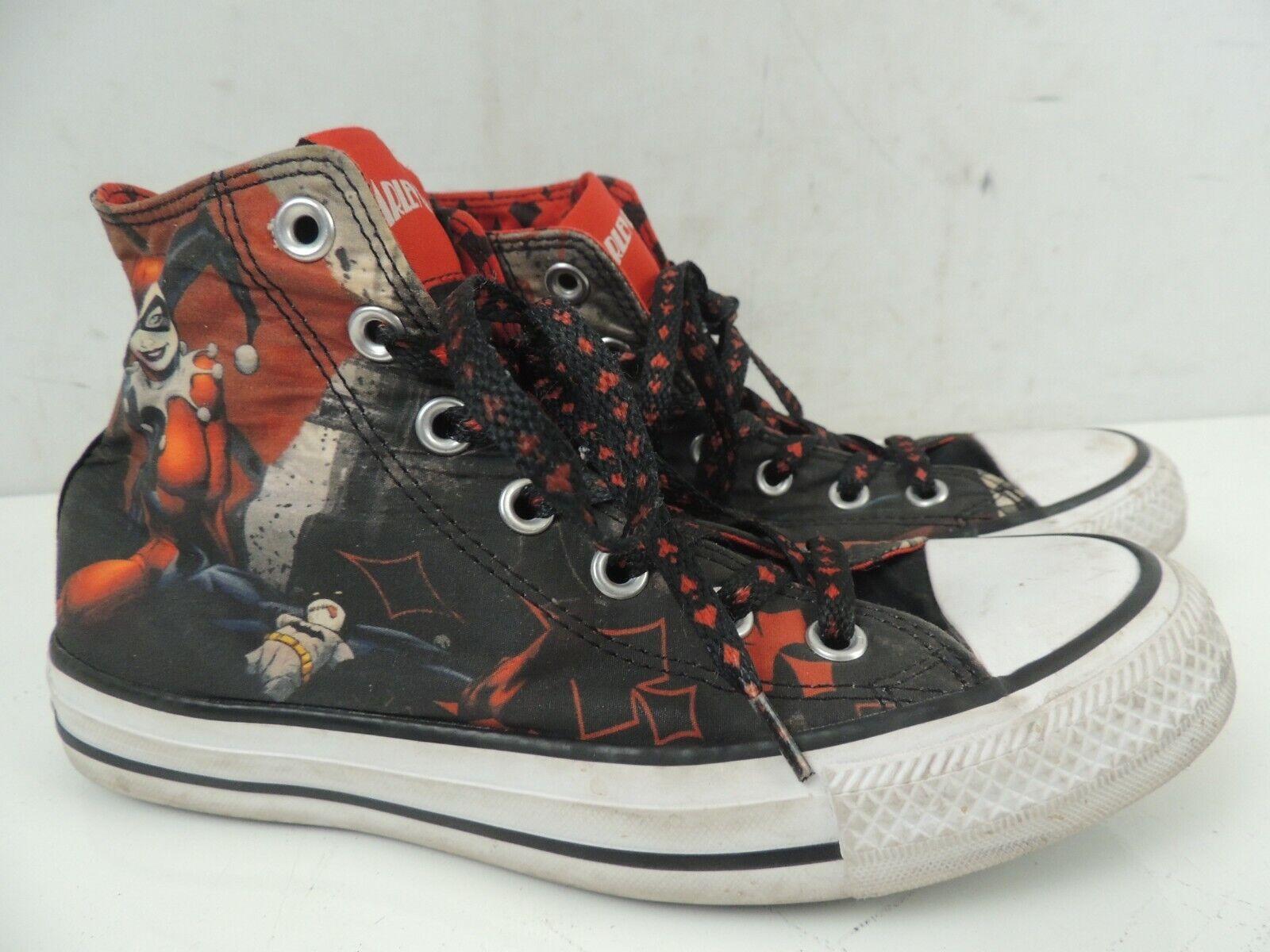 Converse Chuck Taylor All Star Harley Quinn DC Batman Shoes Women's Size 7