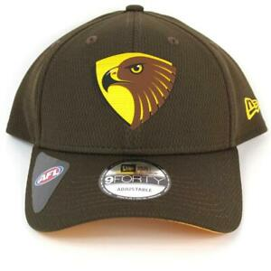 New-Era-Hawthorn-Hawks-Team-9Forty-Hat-Genuine-Cap-In-Brown