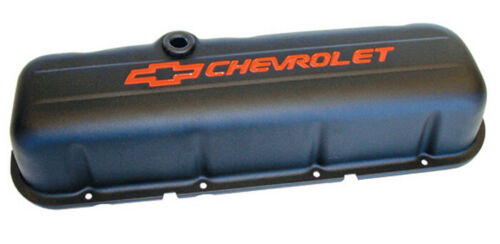 Proform 141-811 Big Block Chevy Stamped Steel Tall Black Valve Covers Pair