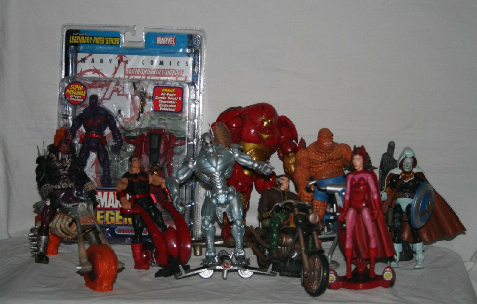 Marvel legends series 11 2005 legendary riders complete set regular and variants