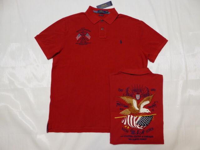 0dcbb3ac $185 Polo RALPH LAUREN USA Banner Eagle New York Custom Shirt ~ SM ~ Slim  fit