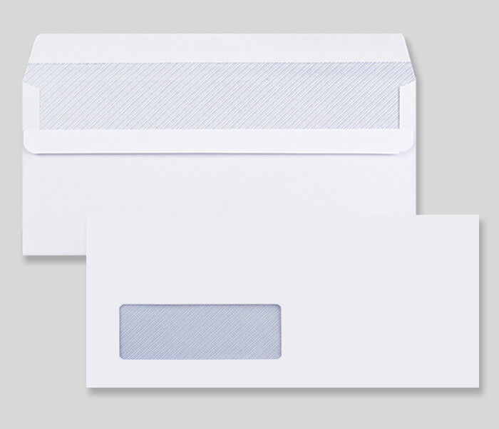 DL SIZE WHITE WITH WINDOW SELF SEAL ENVELOPES 90 gsm