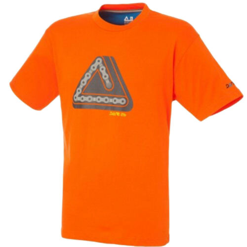 Dare 2b T Shirt Summer Running Gym Vélo Chaîne Tee séchage rapide imprimé graphique Orange