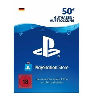 Sony PS Network Card 50€ Euro PSN PS3 PS4 Vita Guthaben Download Code