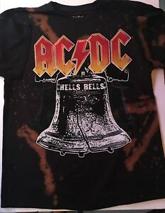 AC-DC-acdc-acid-wash-t-shirt-top-tee-for-kids-childrens-youth-teen-concert-shirt