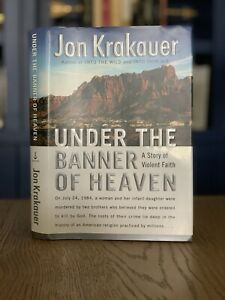 SIGNED-BOOK-Jon-Krakauer-Under-the-Banner-of-Heaven-Stated-1st-edition-LDS-ref